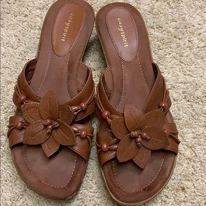 Easy Spirit light brown leather sandals